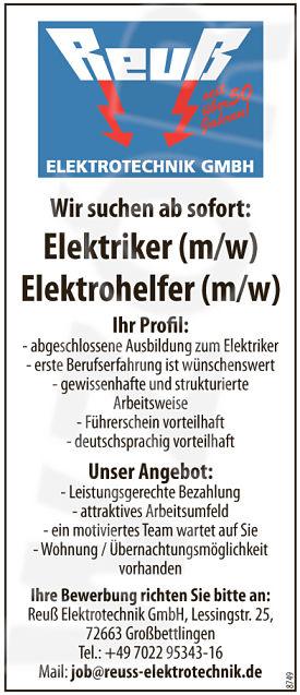 Elektriker gesucht