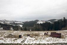 Narben im Gebirge