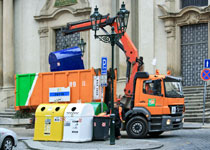 Kampf um Müllcontainer