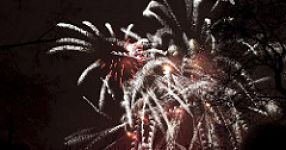 Feuerwerk und Sternchenfeuer