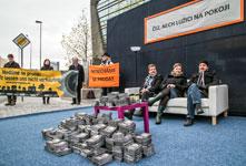 Protest aus der Lausitz in Prag