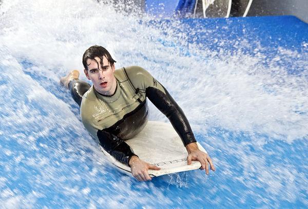 Surfen am Stadtrand