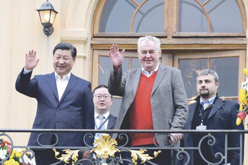 Präsident Zemans gemeinsame Termine mit seinem chinesischen Amtskollegen wurden medienwirksam inszeniert.