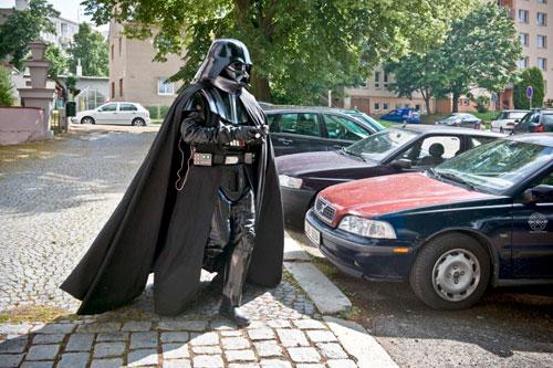 Darth Vader ist auch in Prag zu Hause.