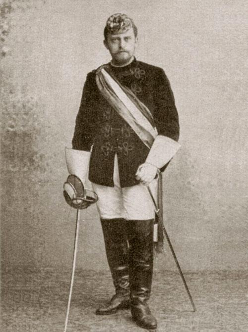 Strobl als Student in der Uniform des Corps Austria