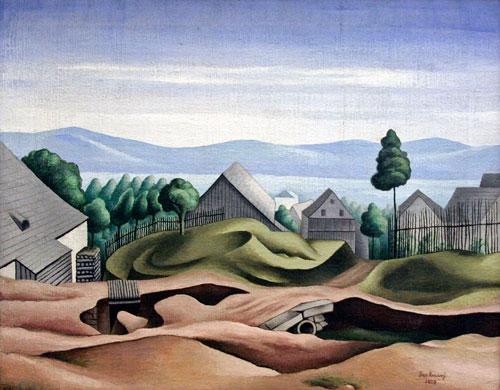 """""""Krucemburk"""" (1923), eines von Zrzavýs frühen Landschaftsgemälden"""