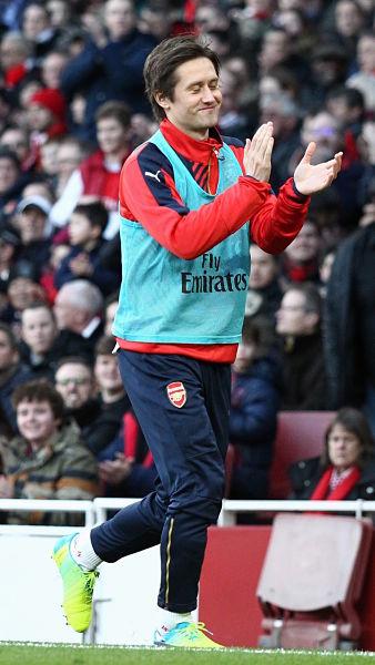 Rosický vor einem seiner letzten Einsätze für Arsenal London im Januar 2016 © CC BY 2.0, joshjdss