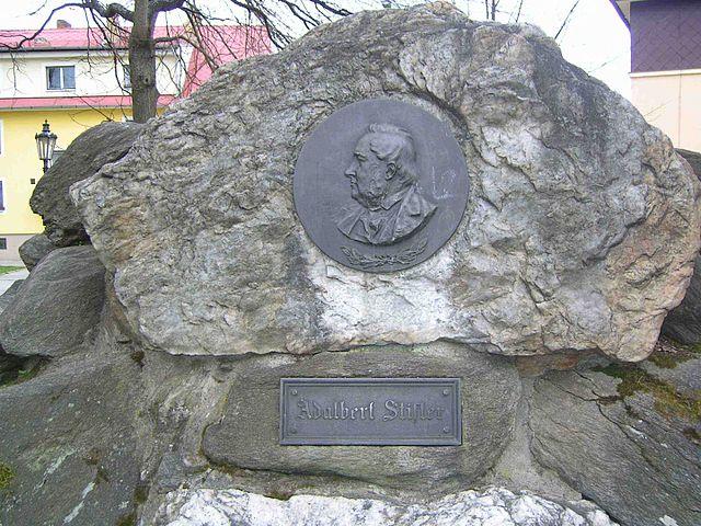 Gedenktafel für Adalbert Stifter im südböhmischen Frymburk nad Vltavou (Friedberg) © Hans Weitkowitz, CC BY-SA 3.0