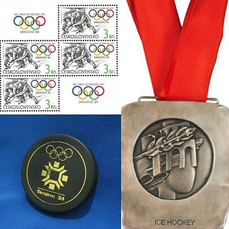 Beim olympischen Eishockey-Turnier 1984 gewann die Tschechoslowakei die Silbermedaille. © PZ