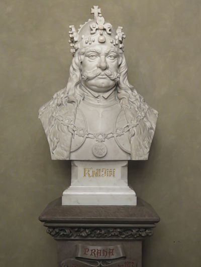 Büste von Georg aus Podiebrad im Altstädter Rathaus (Prag)