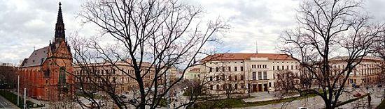 Blick auf den Brünner Comenius-Platz (Komenského náměstí) mit Gebäuden der Masaryk-Universität © Martin Nováček, CC BY-SA 4.0