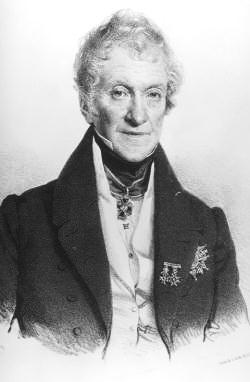 Kaspar Maria Graf Sternberg auf einer Lithographie im Jahr 1837