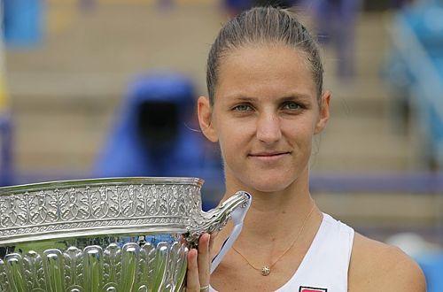 Am 1. Juli 2017 gewinnt Plíšková das Rasenturnier von Eastbourne und holt sich ihren 19. Einzeltitel auf der WTA-Tour. © James Boyes, CC BY 2.0