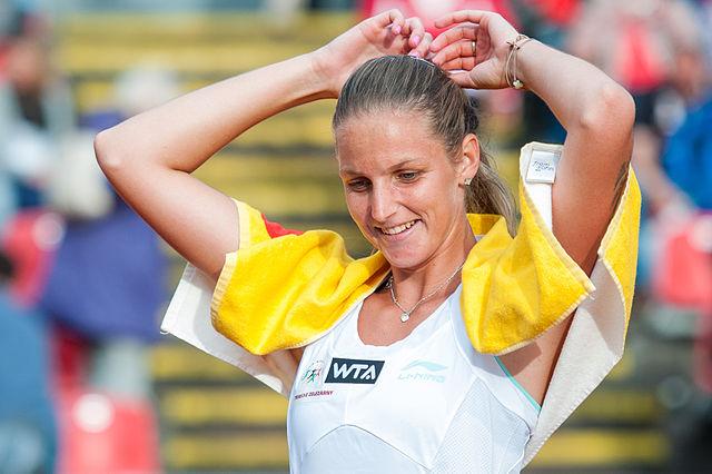 Plíšková beim WTA-Turnier in Nürnberg im Mai 2014 © Stefan Brending/Lizenz: CC BY-SA 3.0 DE