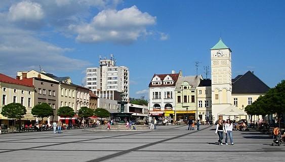 Marktplatz in Fryštát, heute ein Stadtteil von Karviná