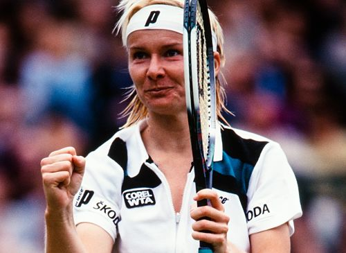 Jana Novotná feierte 1998 ihren größten Triumph - in Wimbledon.