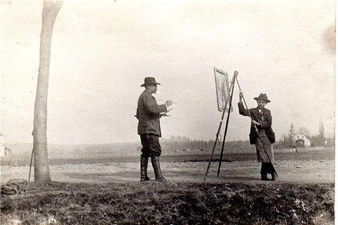 Adolf-Hoelzel-beim-Malen-im-Moos-um-1895-Foto-Adolf-Hoelzel-576452h_opt