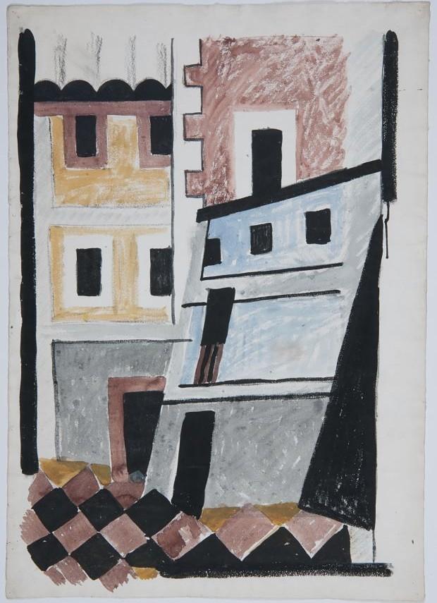 Josef Šíma, Domy, 1921, Moravská galerie v Brně_opt