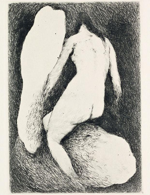Josef Šíma, Provinění, 1928, Ilustrace ke sbírce Pierra Jeana Jouva Ztracený ráj, Národní galerie Praha _opt
