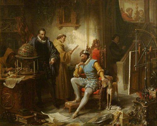 Ender, Eduard, 1822-1883; Rudolph II and Tycho Brahe in Prague