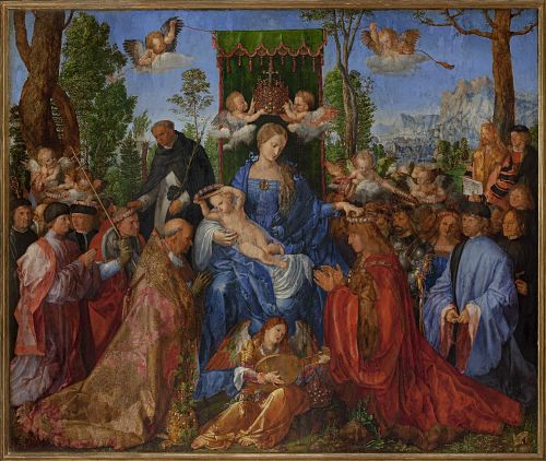 Albrecht DürerRůžencová slavnost1506_opt