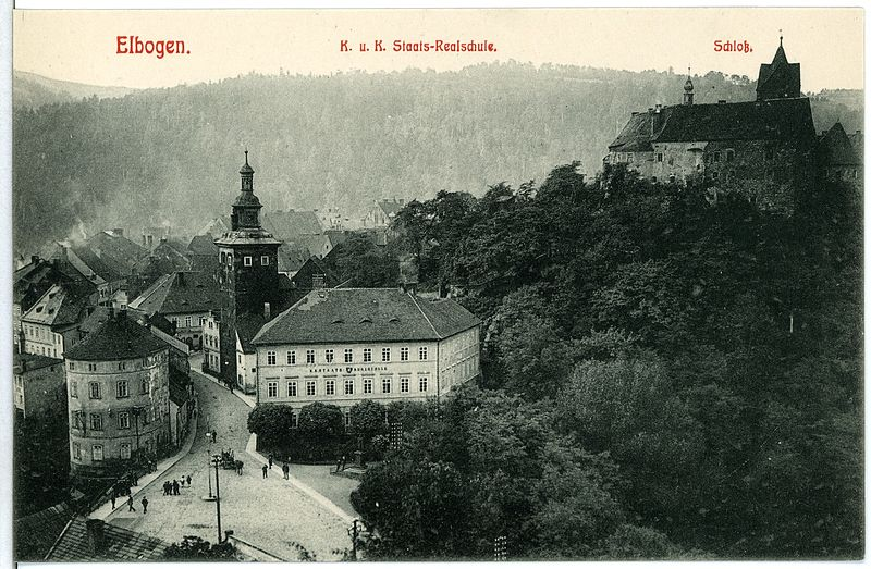 10987-Elbogen-1909-Staatsrealschule,_Schloß-Brück_&_Sohn_Kunstverlag