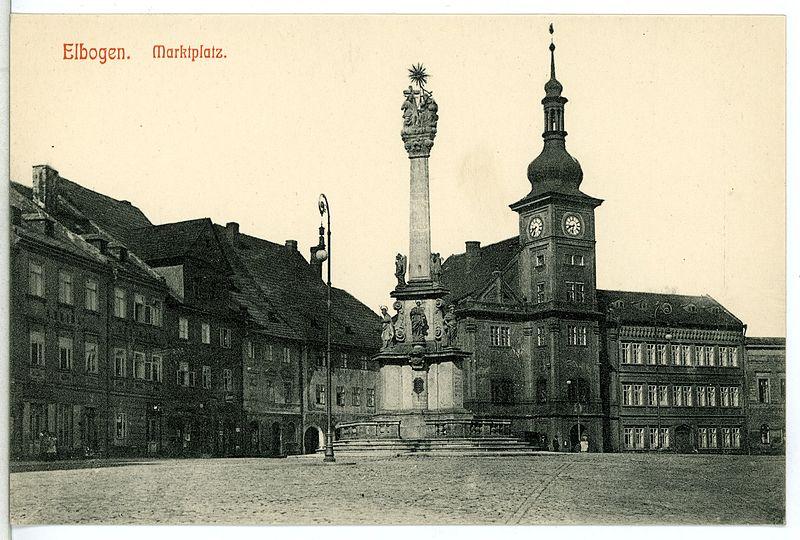 12429-Elbogen-1911-Marktplatz-Brück_&_Sohn_Kunstverlag