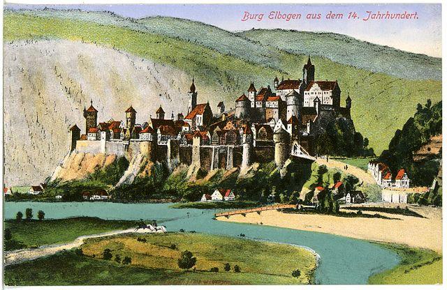 17596-Elbogen-1914-Burg_aus_dem_14._Jahrhundert-Brück_&_Sohn_Kunstverlag